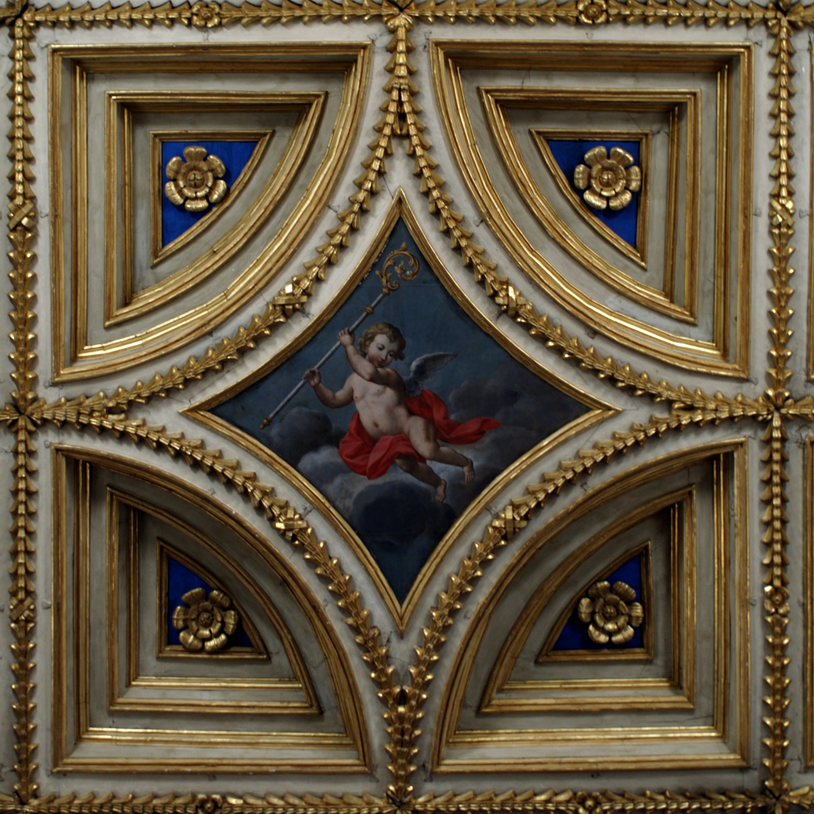 File cath drale d tail caisson wikimedia commons for Plafond cathedrale decoration
