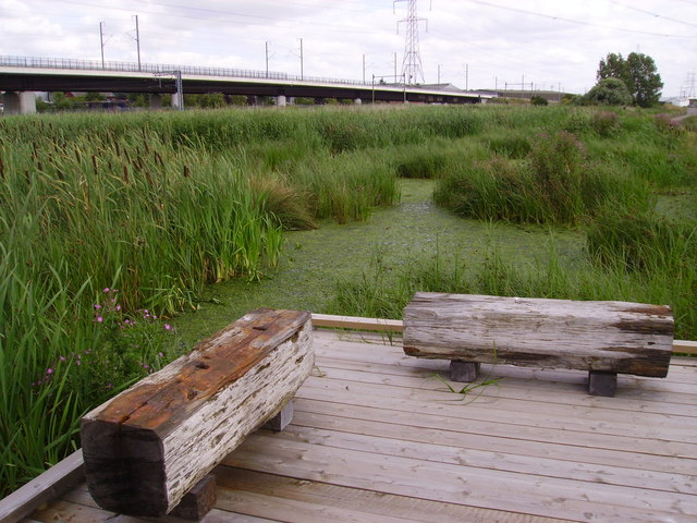 Channel Tunnel Rail Link at Rainham Marshes RSPB Reserve - geograph.org.uk - 1573522