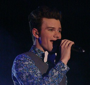 "Chris Colfer performing ""I Wanna Hold You..."