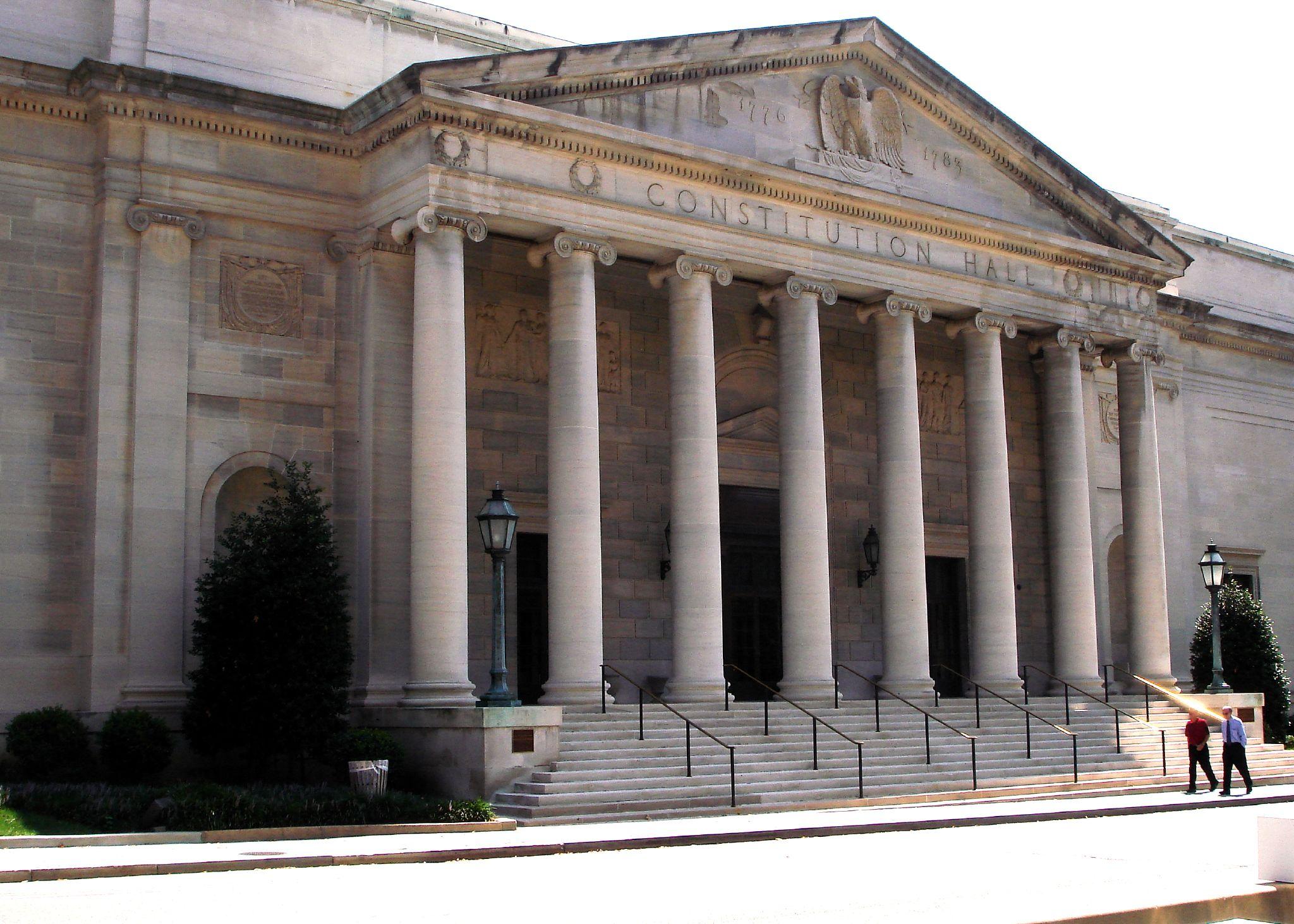 [[DAR Constitution Hall]], Washington, DC