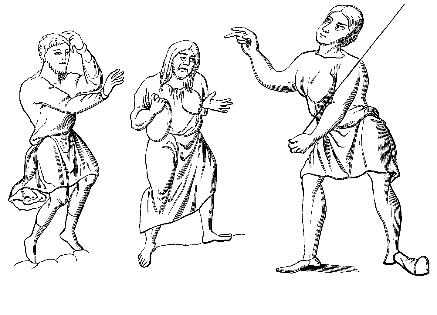 Costumes of slaves or serfs