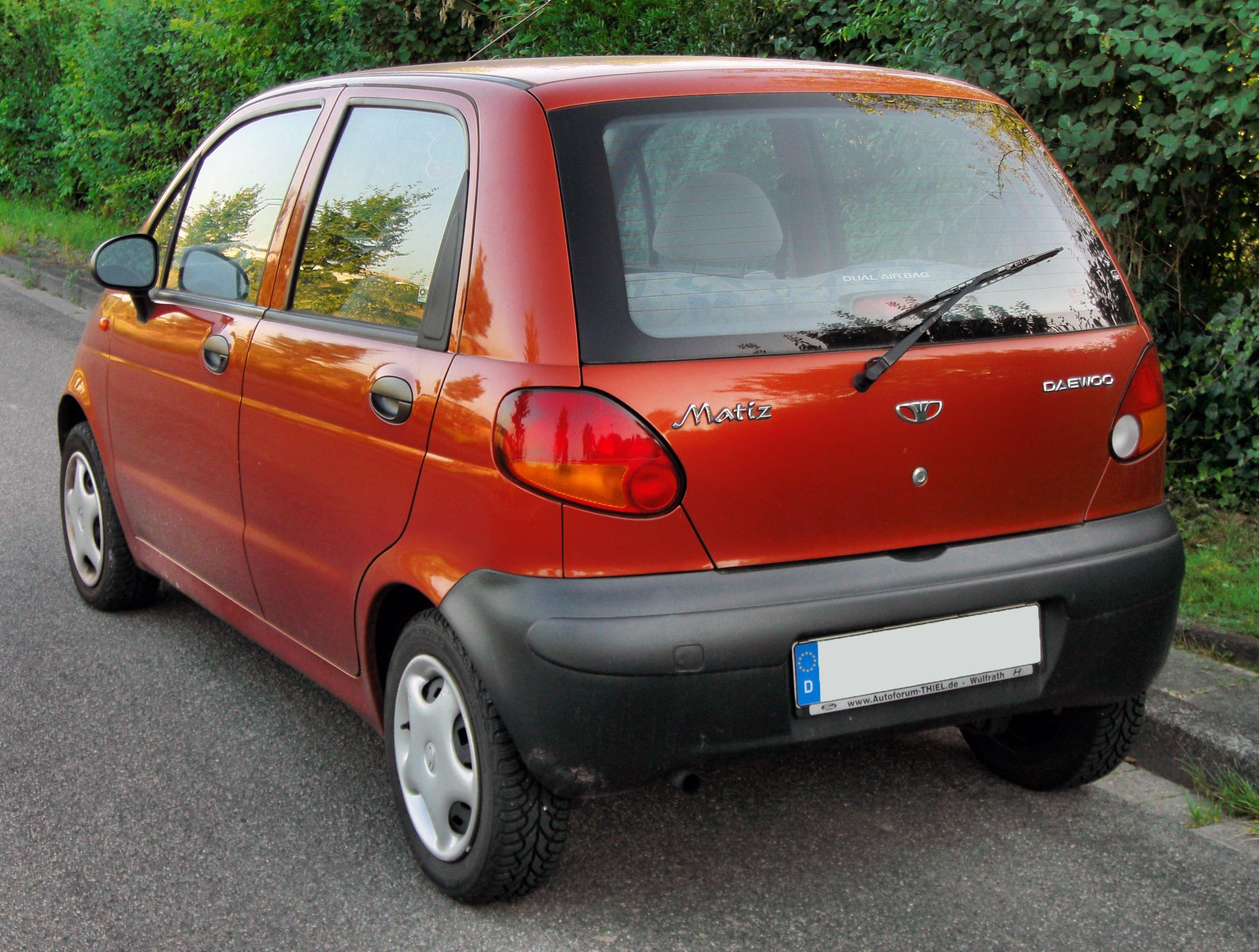 File:Daewoo Matiz 20090815 rear.JPG - Wikipedia