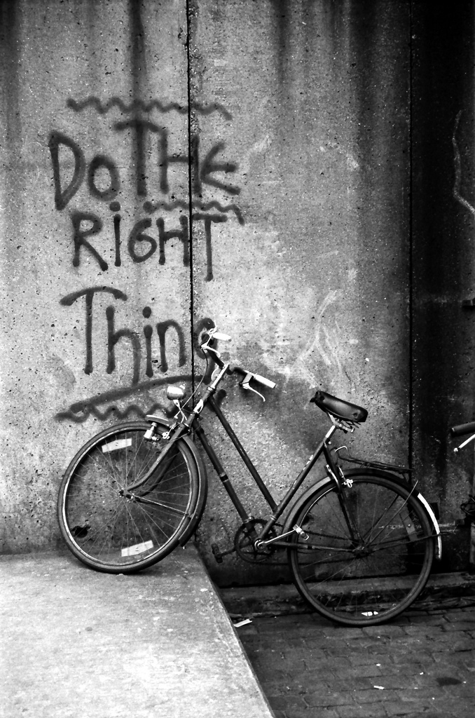 By Joost J. Bakker (Flickr: Do The Right Thing graffiti Amsterdam) [CC-BY-2.0 (http://creativecommons.org/licenses/by/2.0)], via Wikimedia Commons