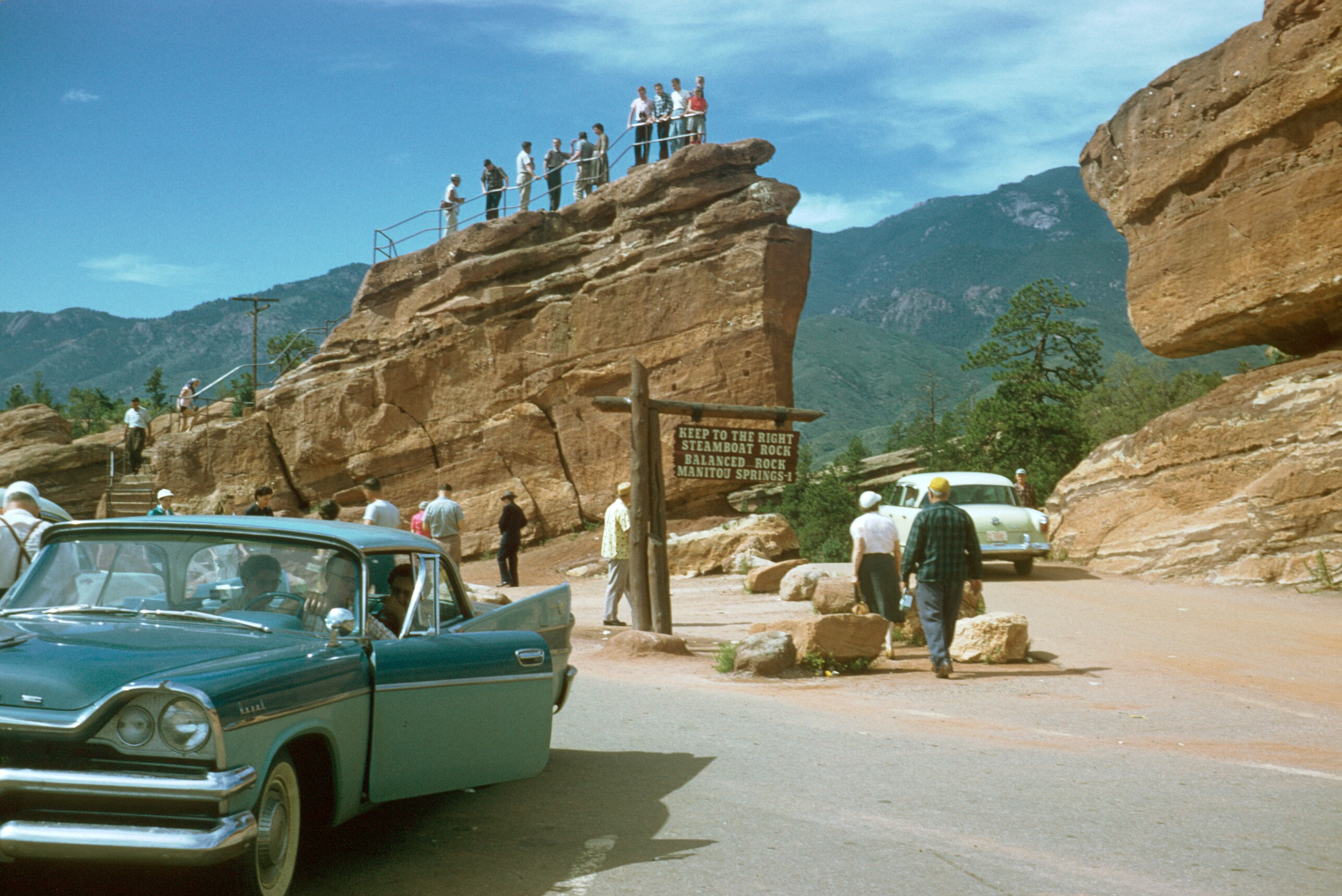 File garden of the gods park colorado 1950 39 s kodachrome by chalmers for Garden of the gods co