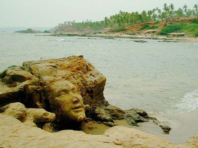 File Goa India Little Vagator Beach Shiva Head Jpg Wikimedia Commons