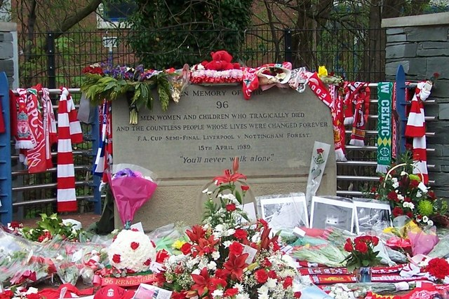 Hillsborough Disaster Memorial - 2, Hillsborough, Sheffield - geograph.org.uk - 1254636