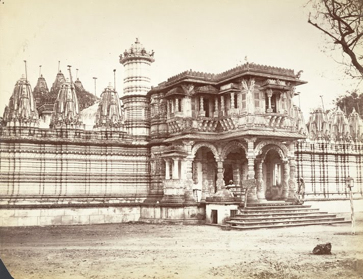 Huttising's Jain Temple, Camp Road, Ahmedabad (c. 1880). Credit: Wikimedia Commons