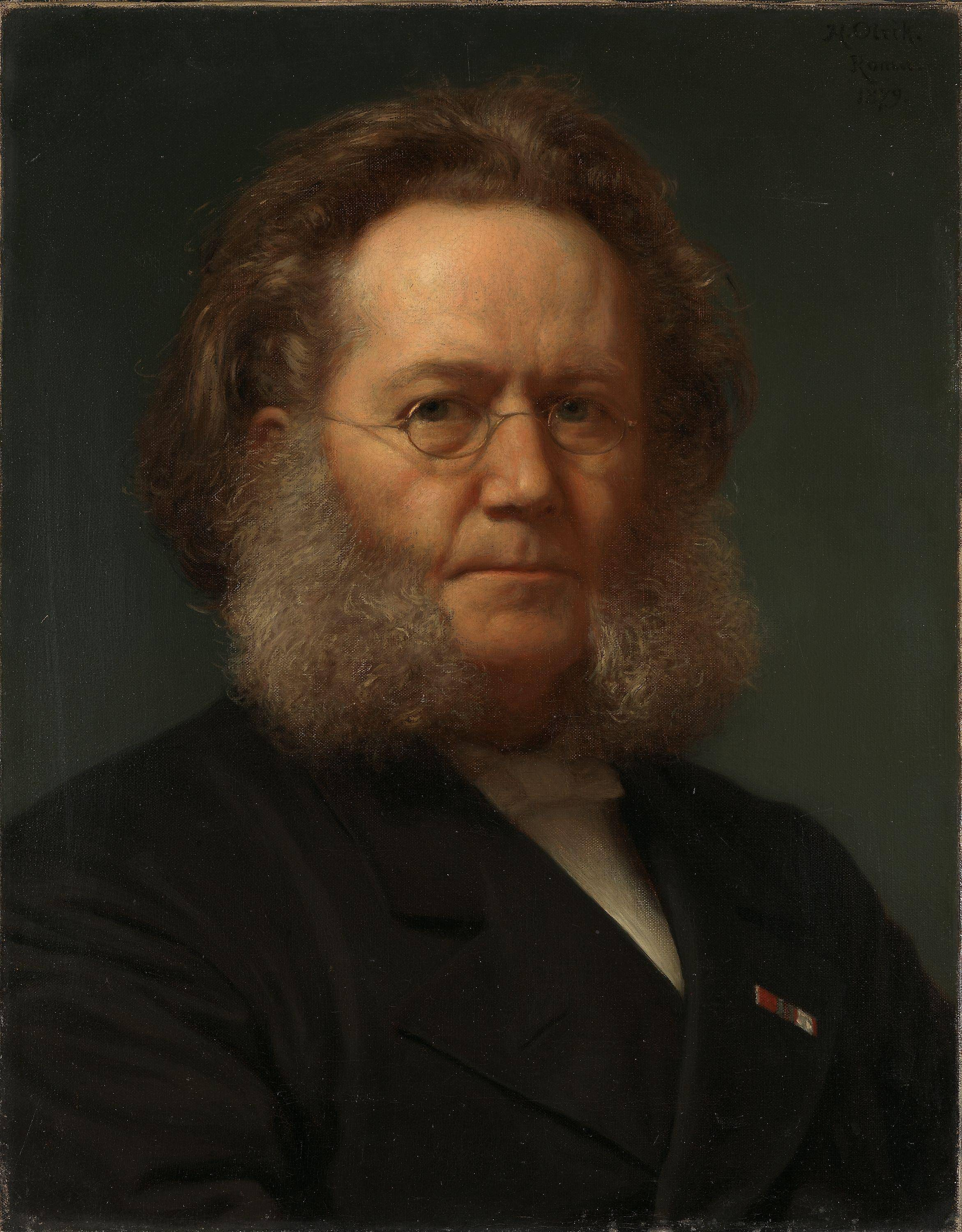 English: Portrait of Henrik Ibsen by Henrik Olrik