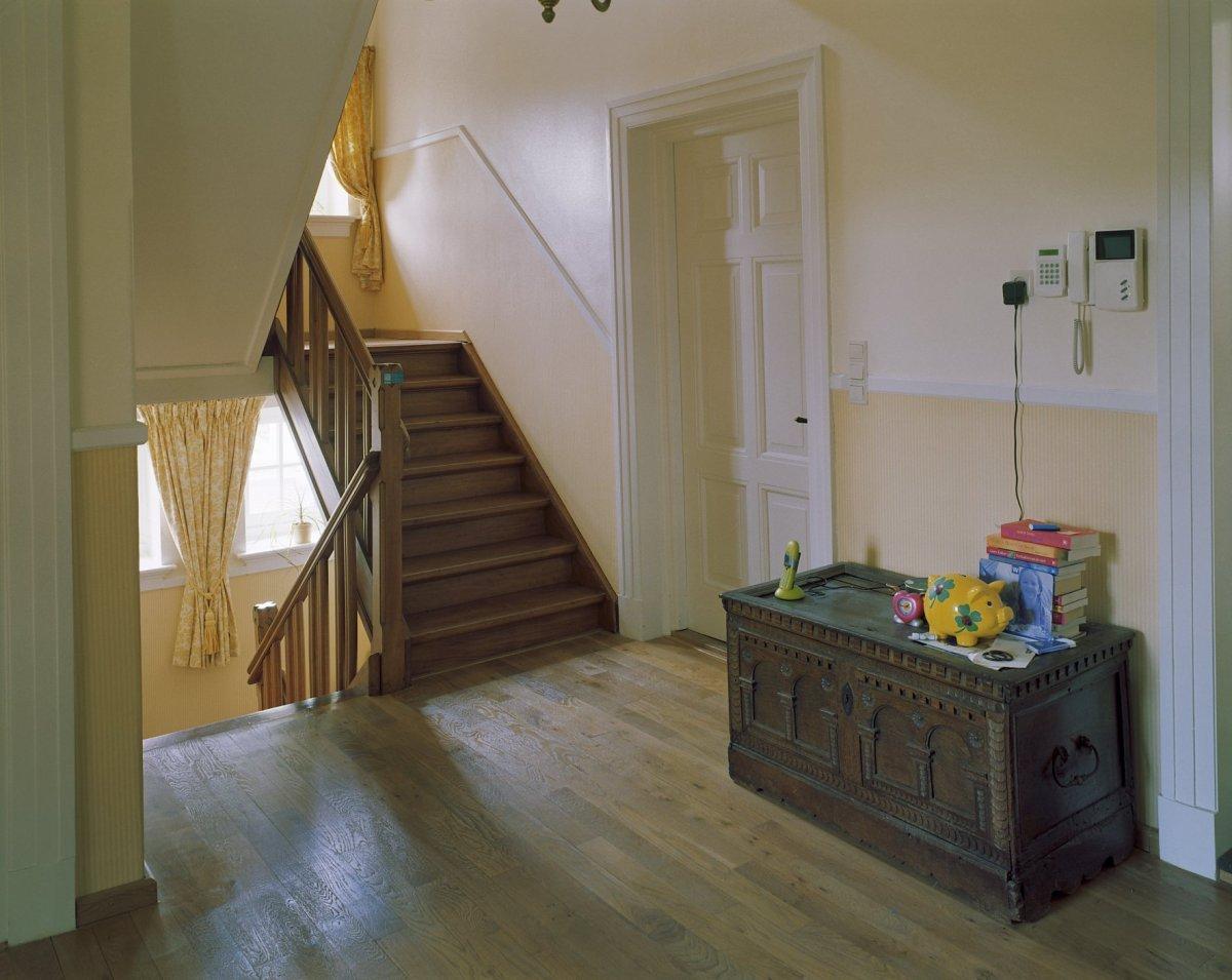File interieur eerste verdieping overzicht overloop richting trap