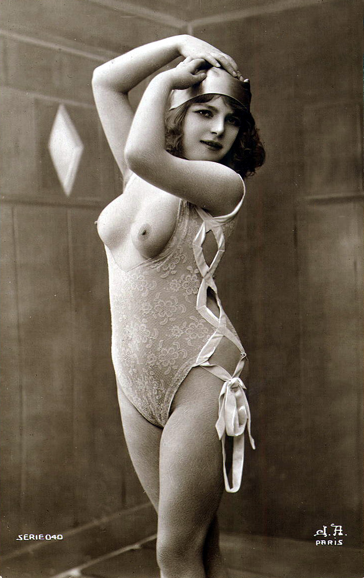 french Vintage women nude