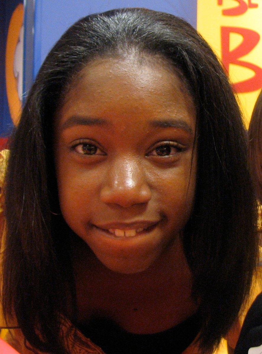 Little black girl singer