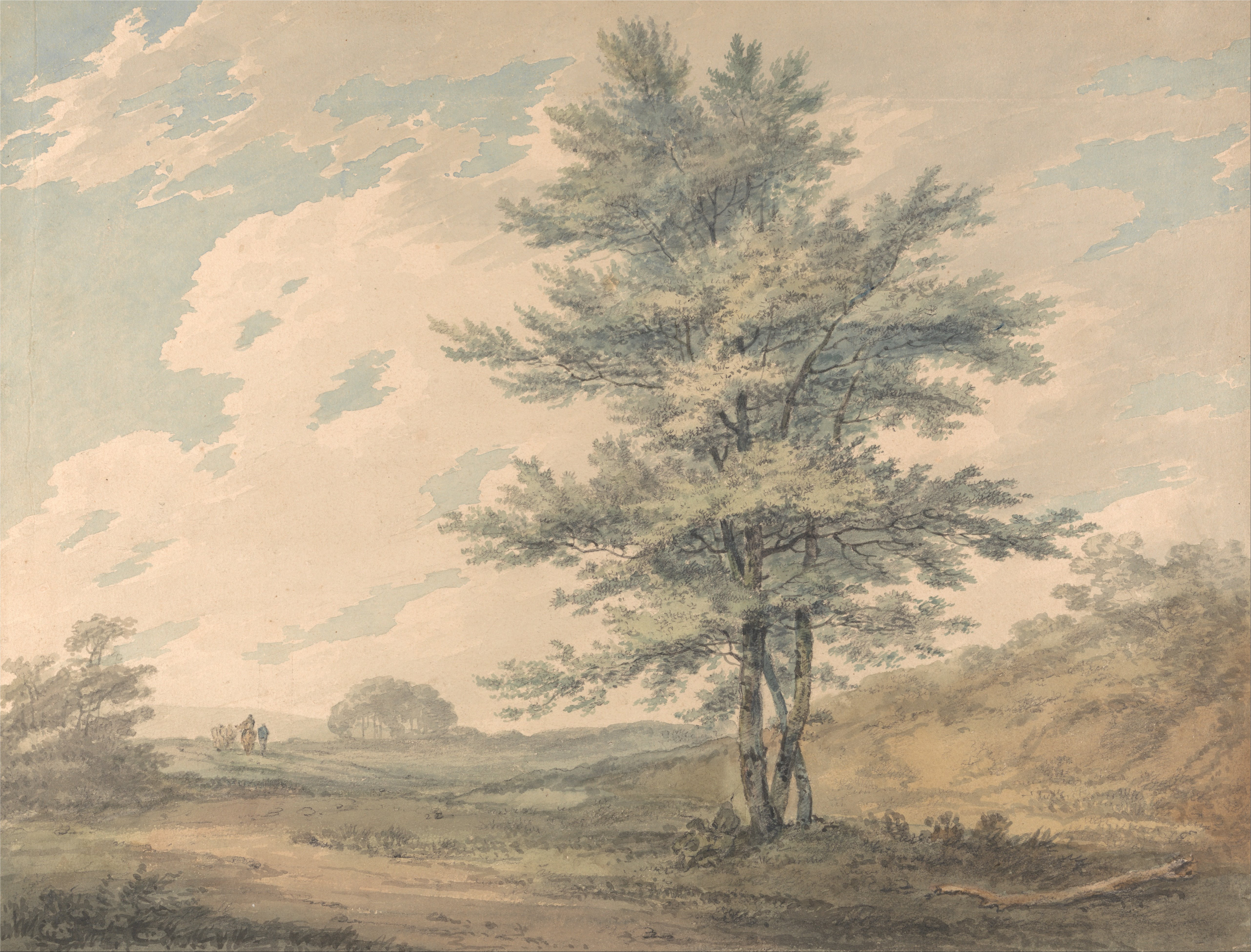File:Joseph Mallord William Turner   Landscape With Trees And Figures    Google Art Project