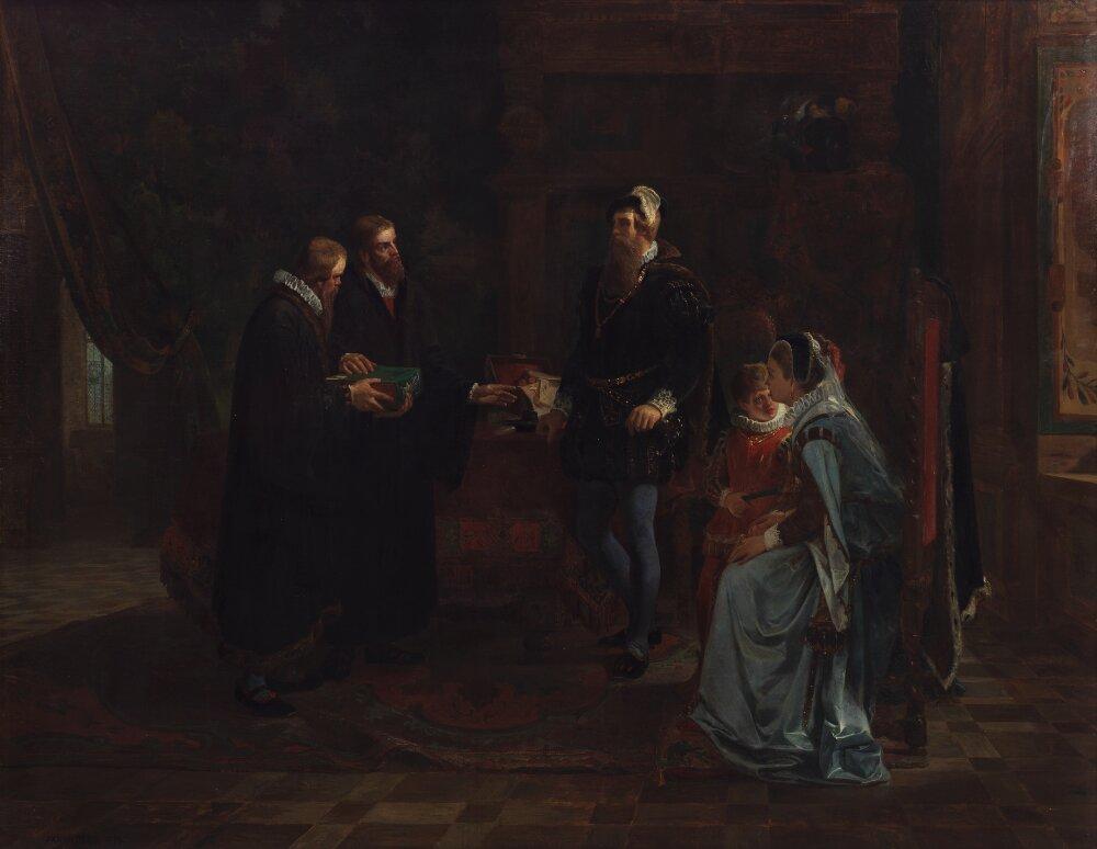 Юлиус Кронберг - король Швеции Густав Васа, получающий шведский перевод Библии - NM 4783 - Nationalmuseum.jpg