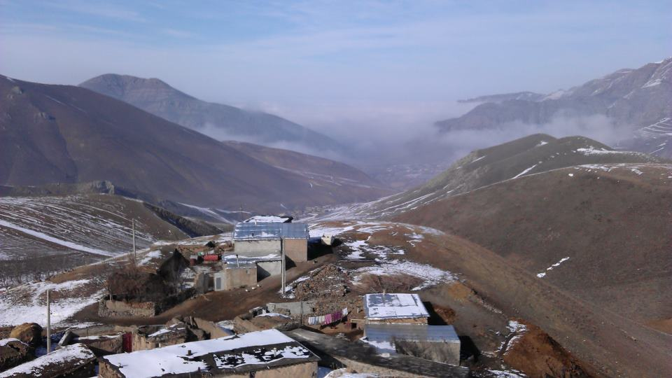 چشم انداز طبیعت  خان کندی در فصل زمستان