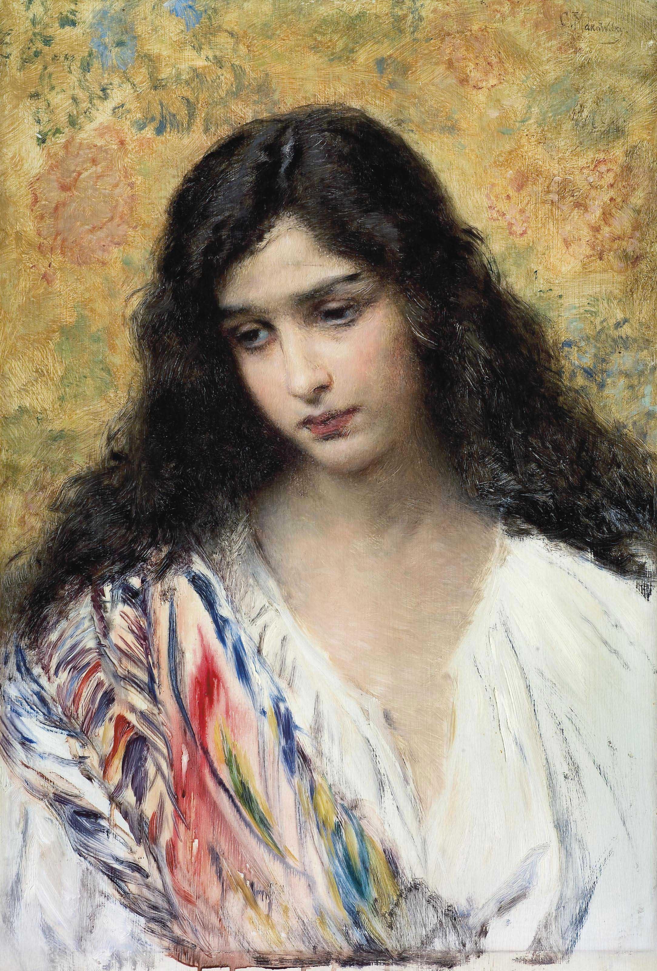 Konstantin Egorovič Makovsky - Russian Beauty (c.1905)