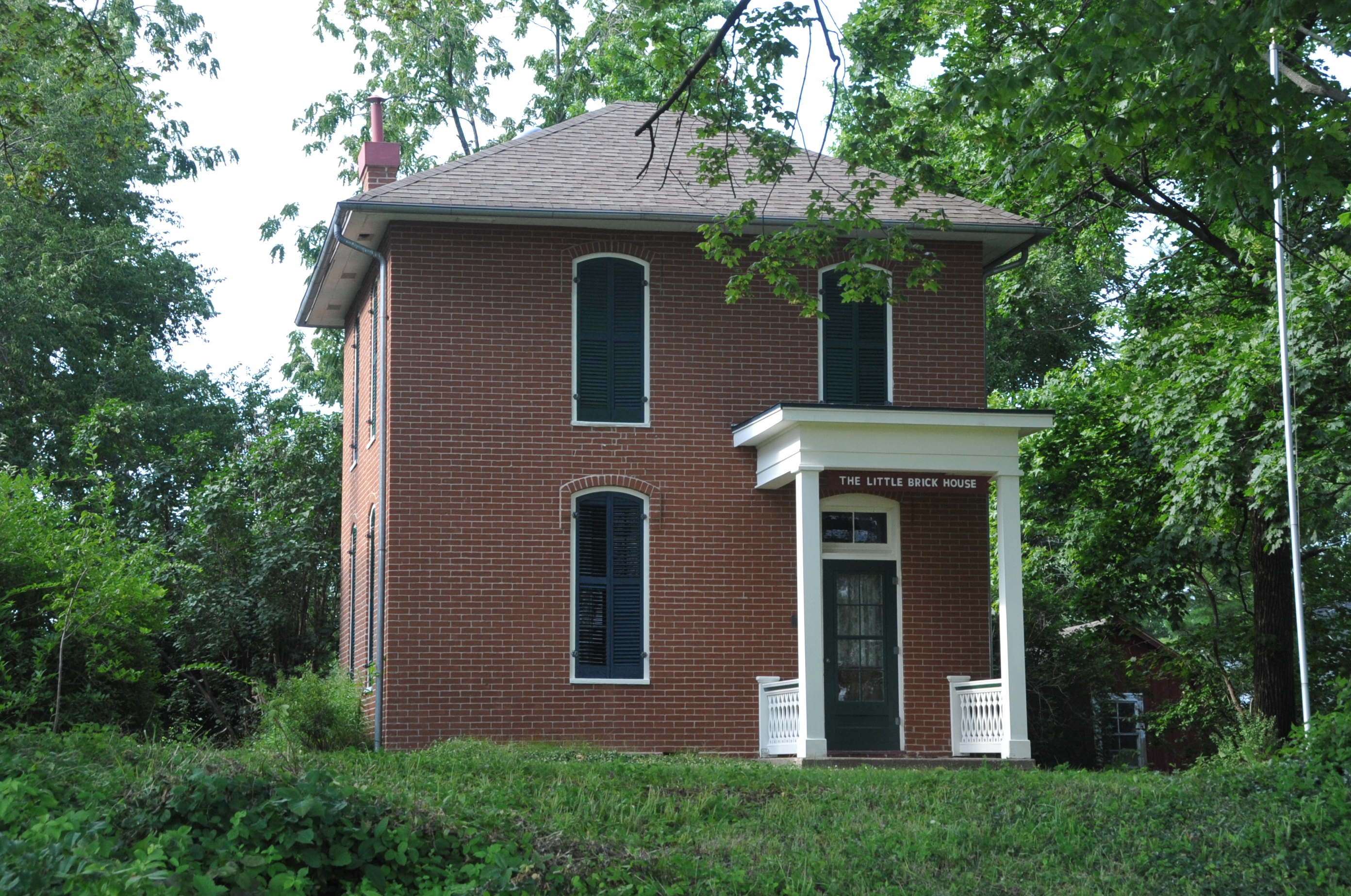 File little brick house vandalia fayette county il jpg wikimedia commons - Modern brick decorated houses ...