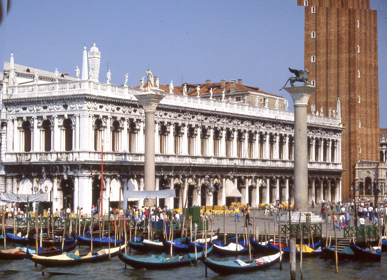 libreria and biblioteca marciana and columns in piazzetta, venice.jpg