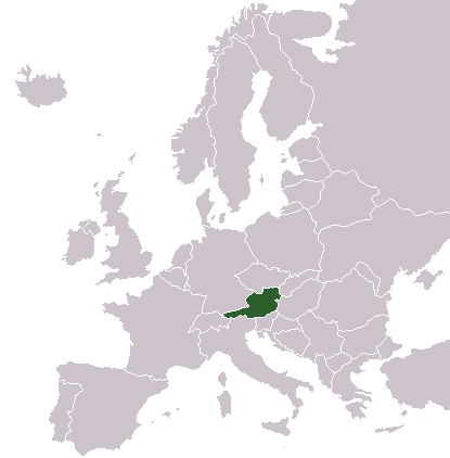 FileLocationAustriaInEuropepng Wikimedia Commons - Austria location in europe