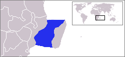 Indian Ocean strait between Madagascar and Mozambique