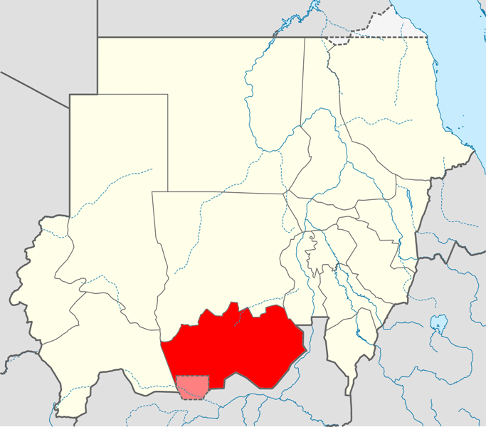 Map Of Sudan North And South. File:Locator map Sudan South