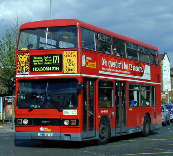 File London Central Bus T991 A991 Sye 1994 Leyland