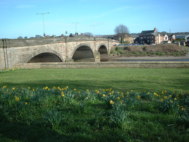 Description london road bridge over the river ribble geograph org uk