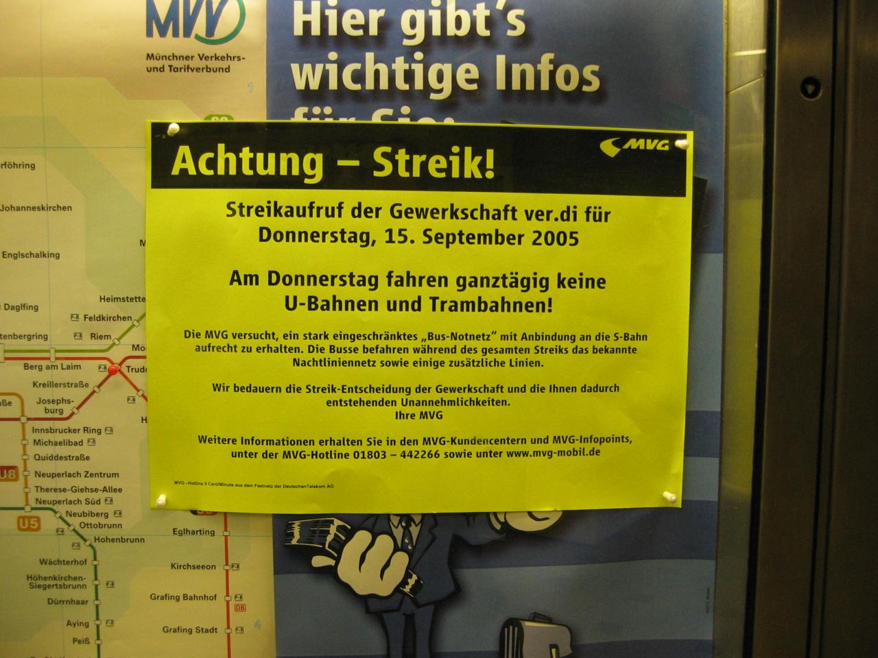 u bahn streik münchen