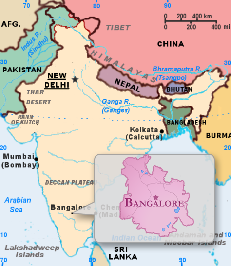 Image result for bengaluru map