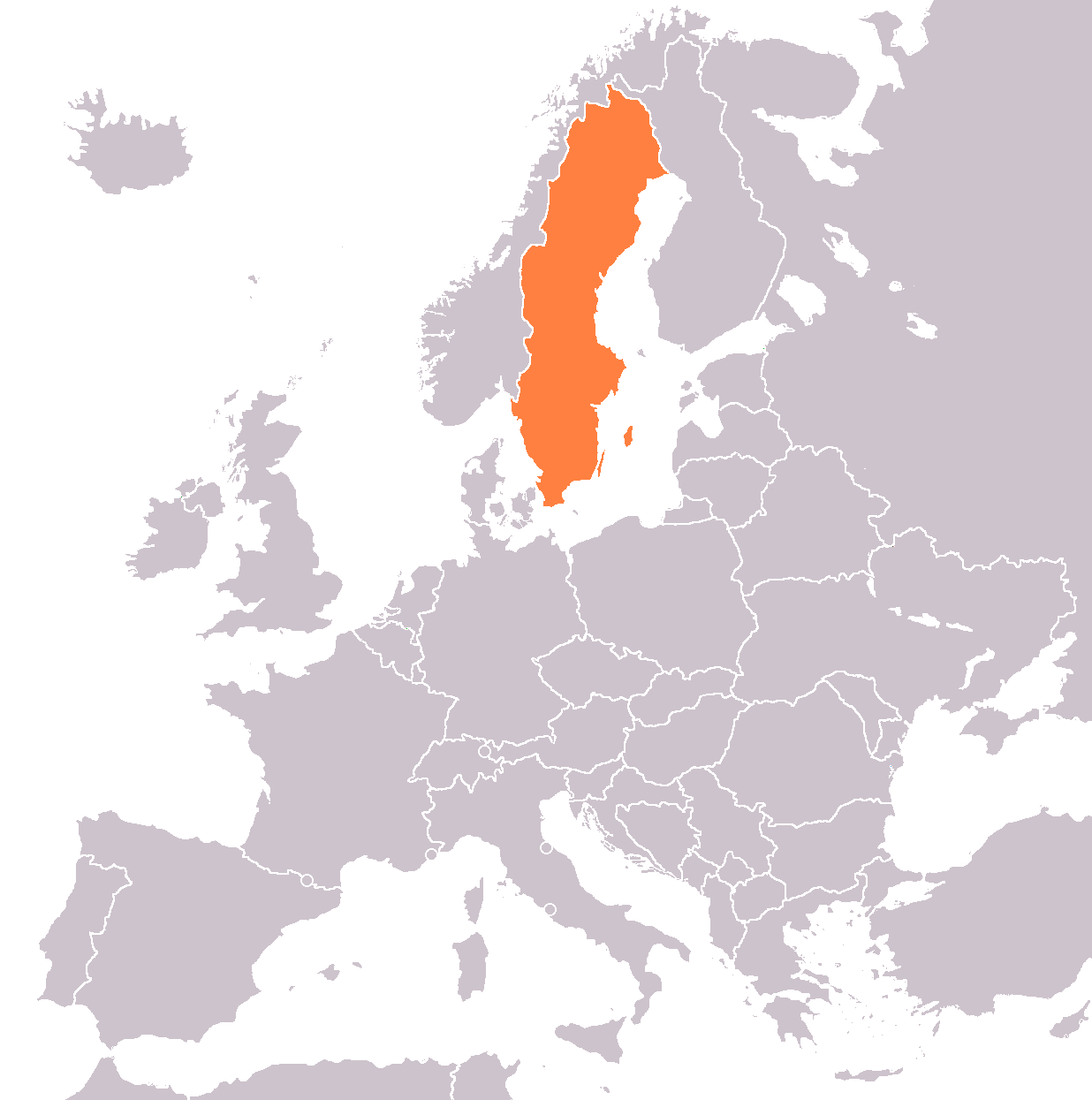 FileMap Of Europe With Sweden In Orange Colorpng Wikimedia Commons - Sweden european map