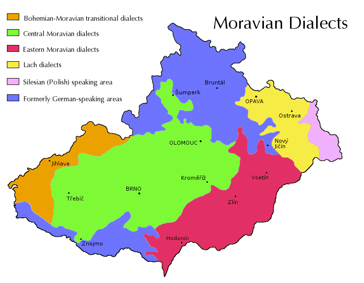 Moravian dialects - Wikipedia