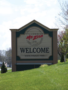 Mt. Zion welcome sign