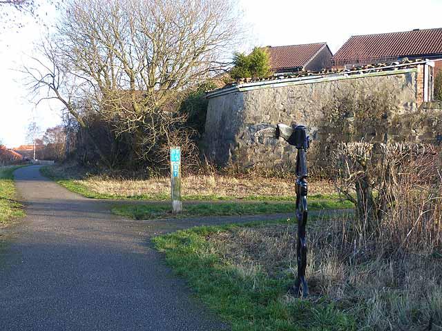 NCN Millennium Milepost MP456 C2C Cycle Route Stanley County Durham