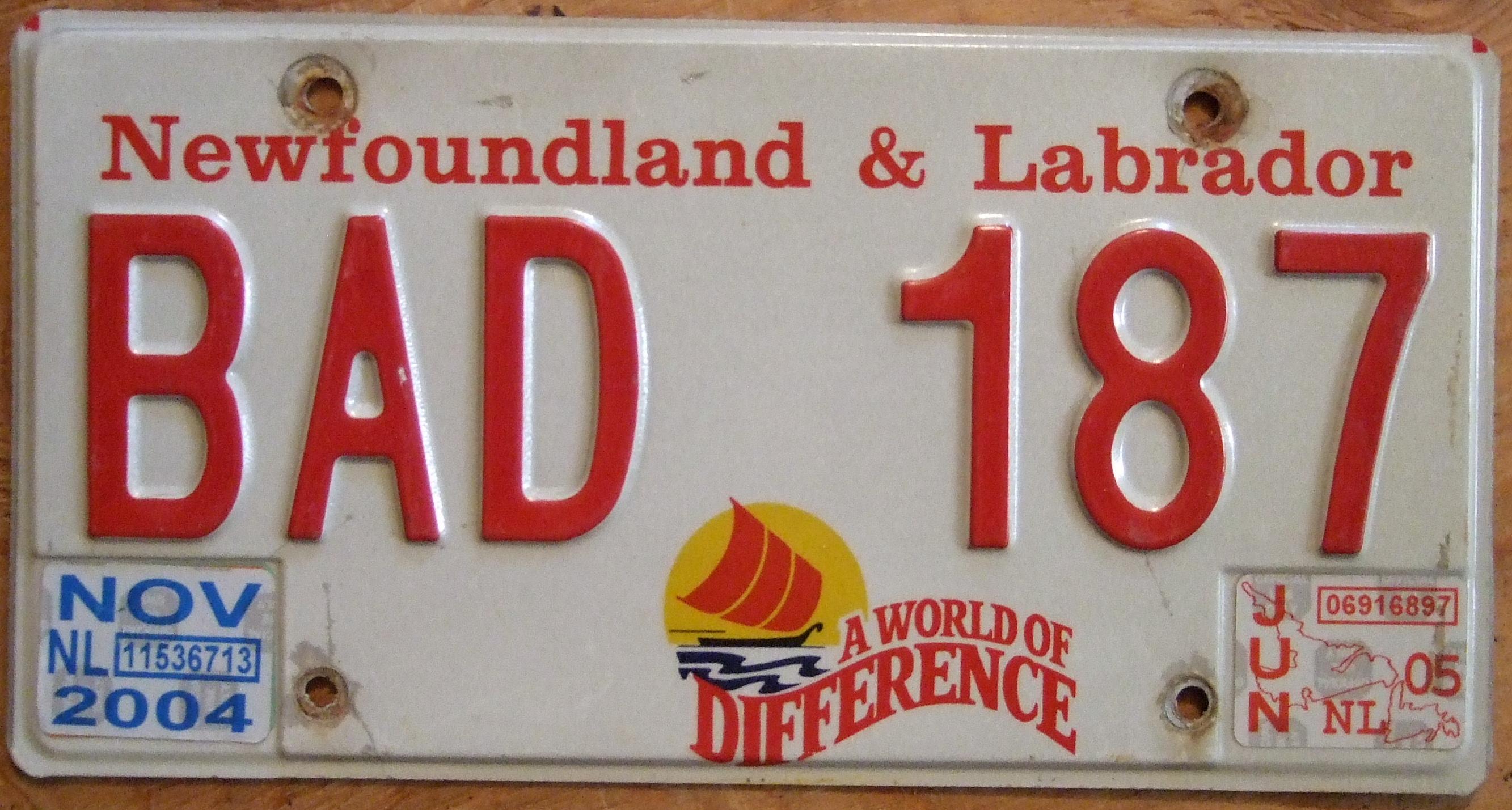 Newfoundland Labrador License Plate