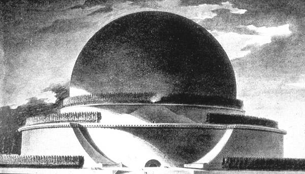 Cénotaphe a Newton Boullee