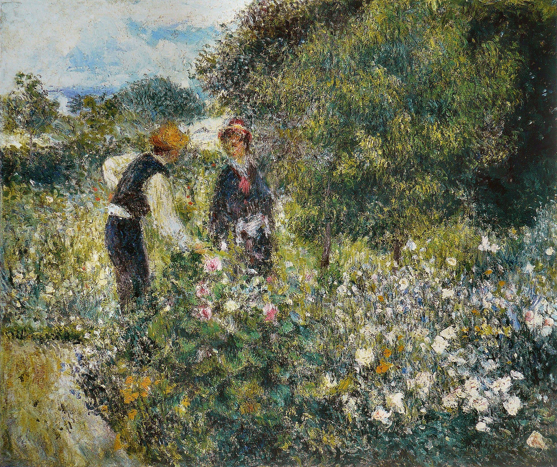 File pierre auguste renoir la cueillette des for Un jardin de fleurs