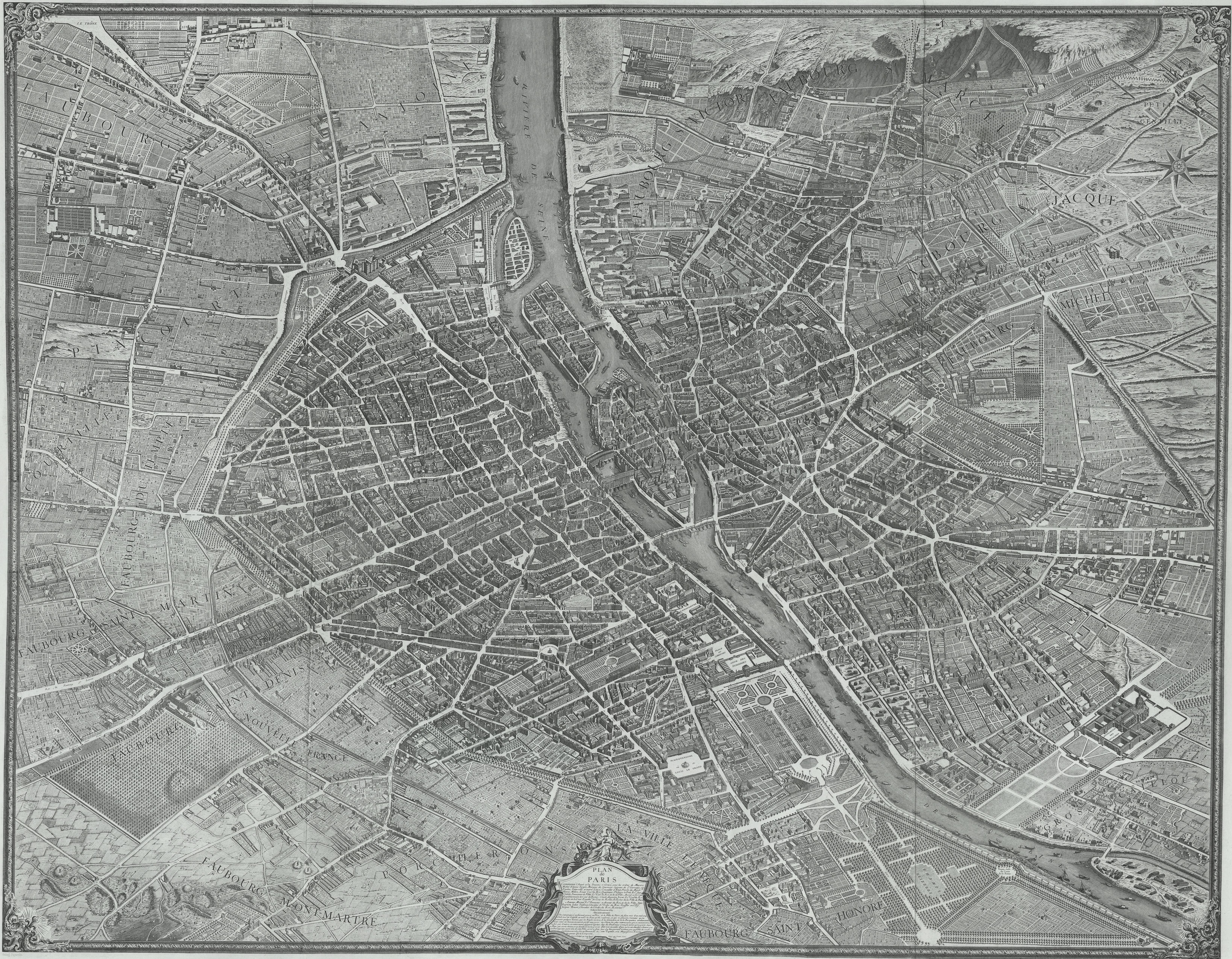 FilePlan De Turgotjpg Wikimedia Commons - Large map of paris france