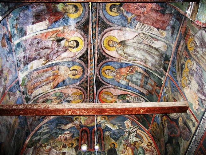 Pološko Monastery of Saint George Genealogy of Christ in the vault - east.jpg