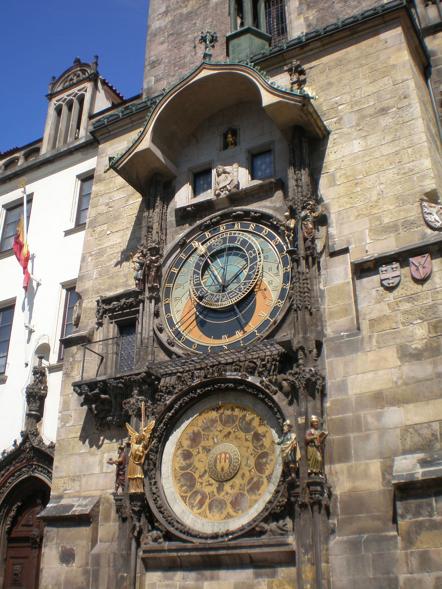 Fifteenth century Prague's astronomical clock: it is the oldest one still working and third-oldest astronomical clock in the world.