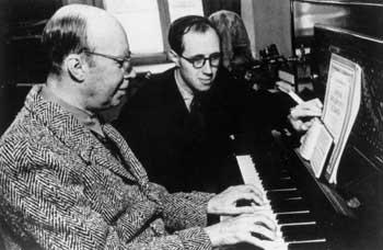 Сергей Прокофьев (слева) и Мстислав Ростропович, 1952 год