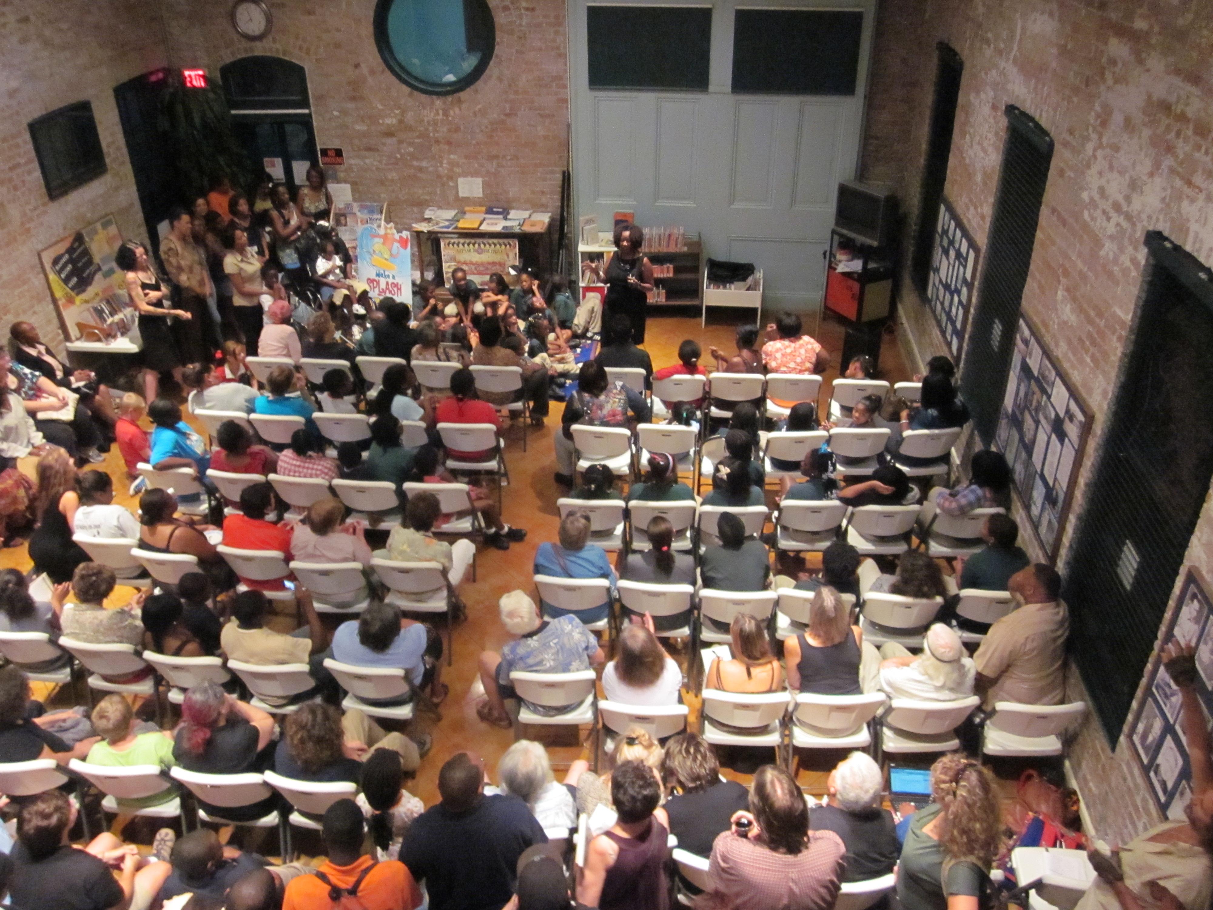 File:Ruby Bridges Hall crowd from balcony.JPG - Wikimedia Commons