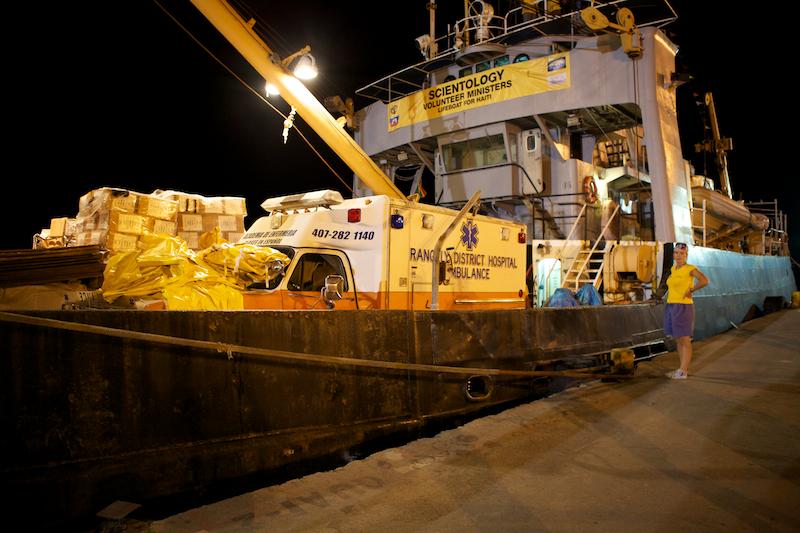 File:Scientology Volunteer Minister Ship Hornbeam arriving in Haiti.jpg