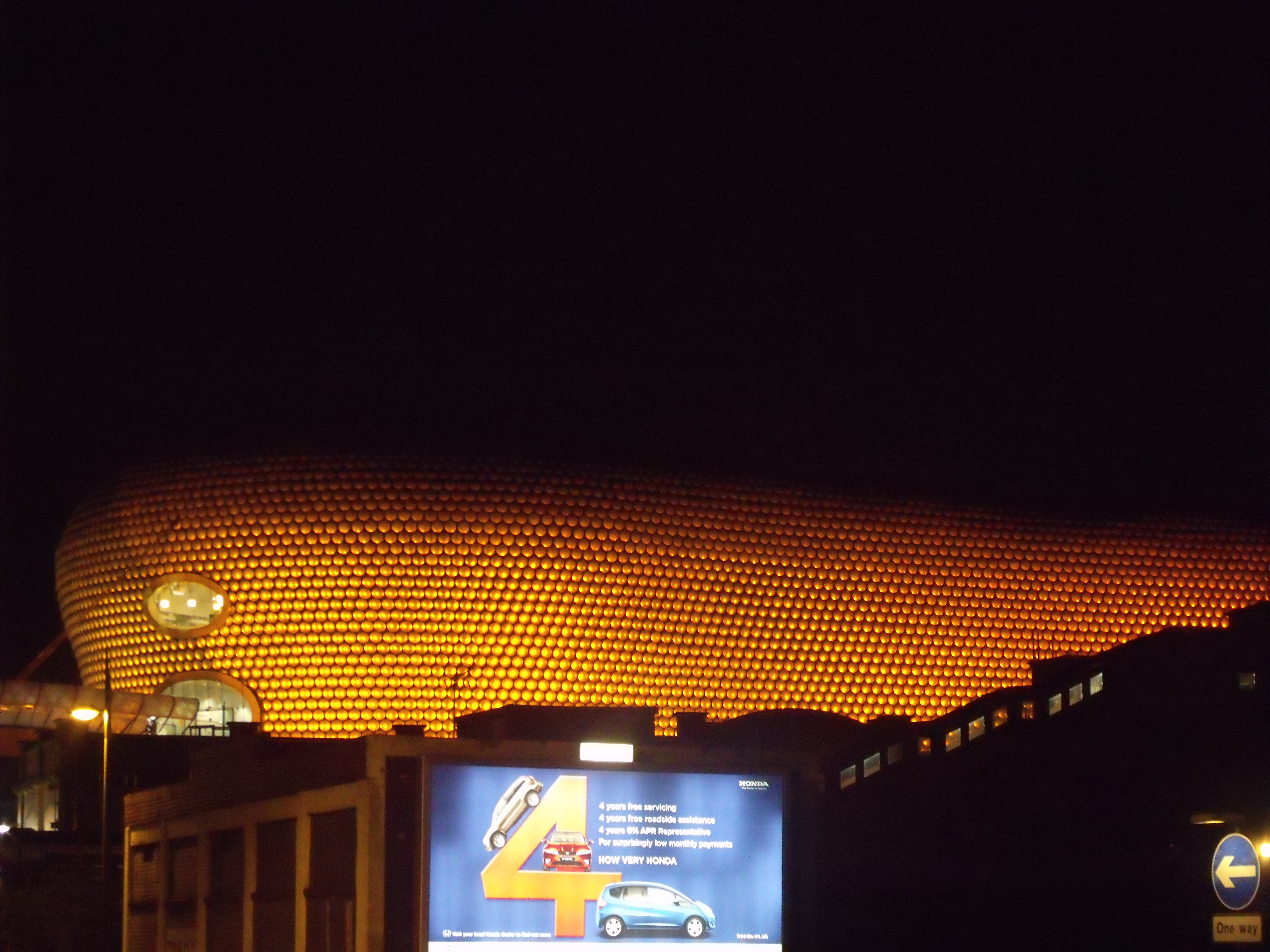 File:Selfridges, Birmingham   Orange Lights At Night   Park Street    Billboard