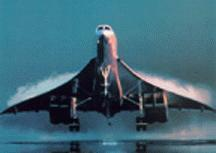 Concorde on takeoff