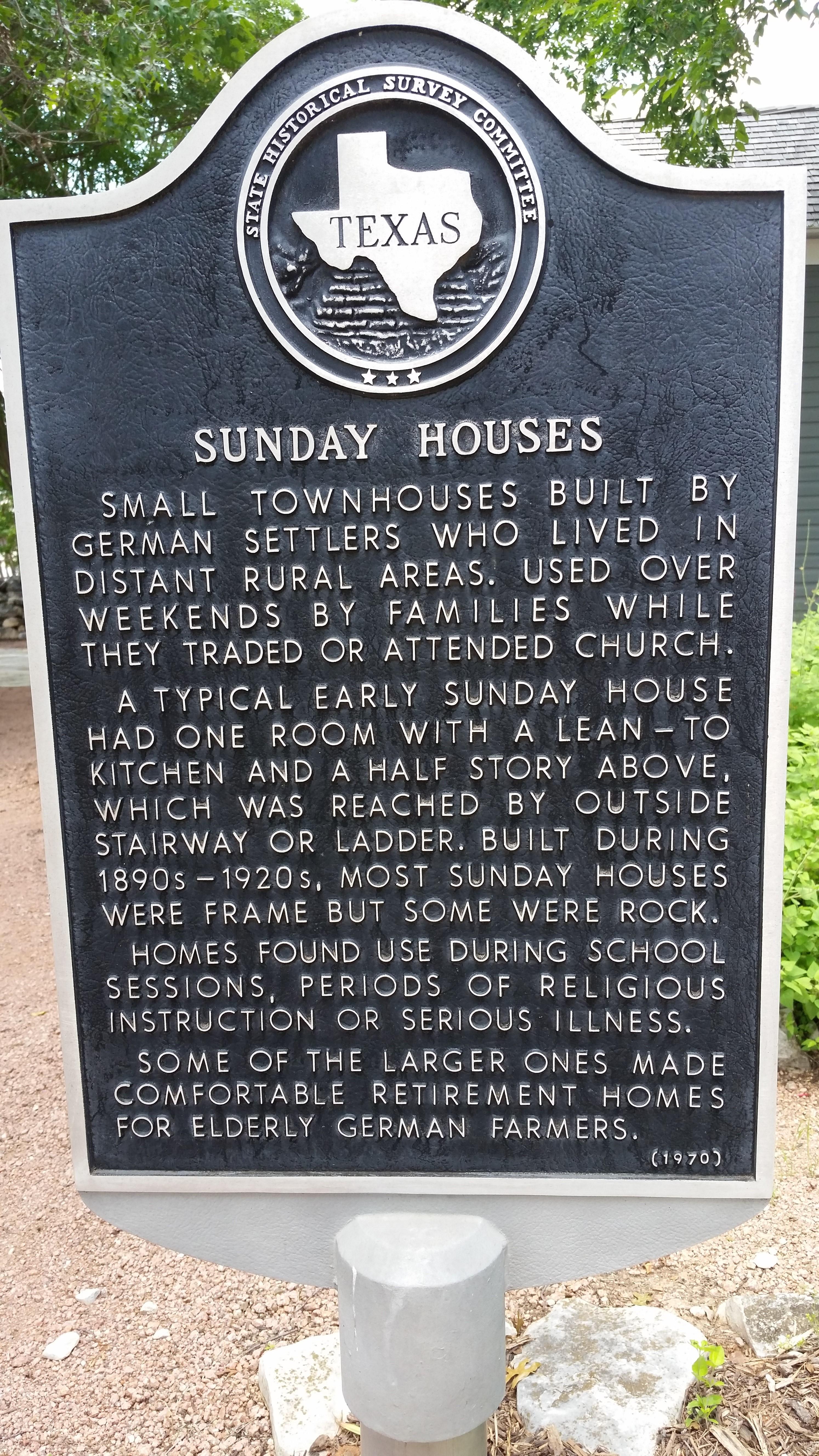 File Sunday House Texas Historical Marker In Fredericksburg Texas