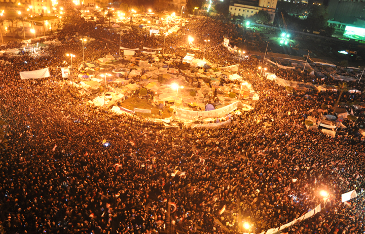 Image result for ميدان التحرير أثناء الثورة
