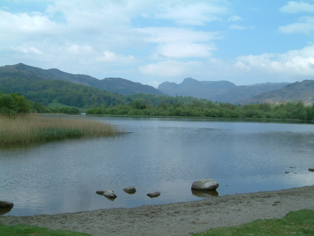 The Langdale Pikes From Elterwater - geograph.org.uk - 356345
