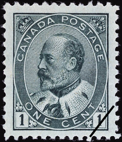 Description timbre-poste canada edouardvii 1c 1903