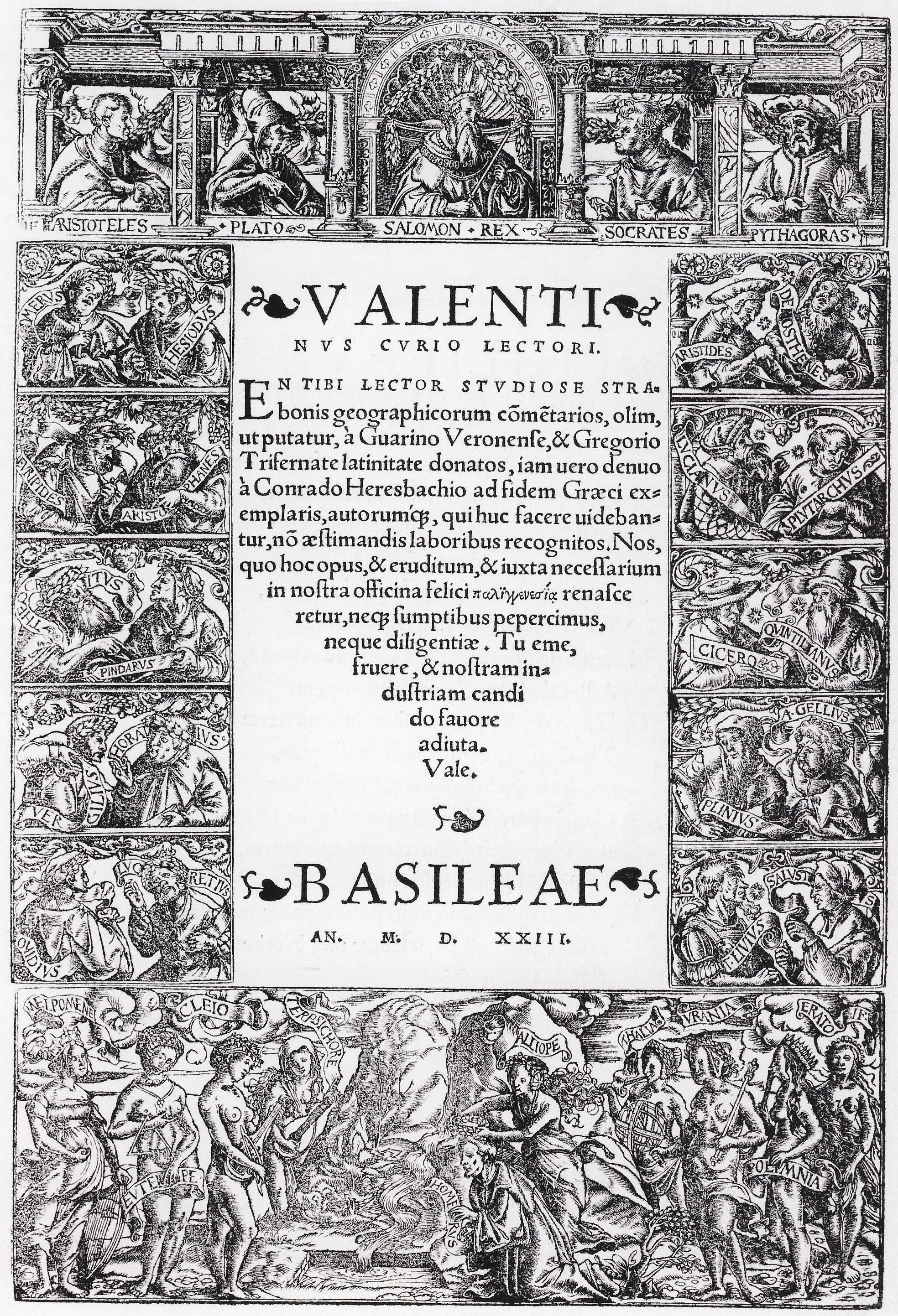 Style Page Borders http://commons.wikimedia.org/wiki/File:Title_Page_Border_with_Greek_and_Roman_Philosophers,_by_Hans_Holbein_the_Younger.jpg