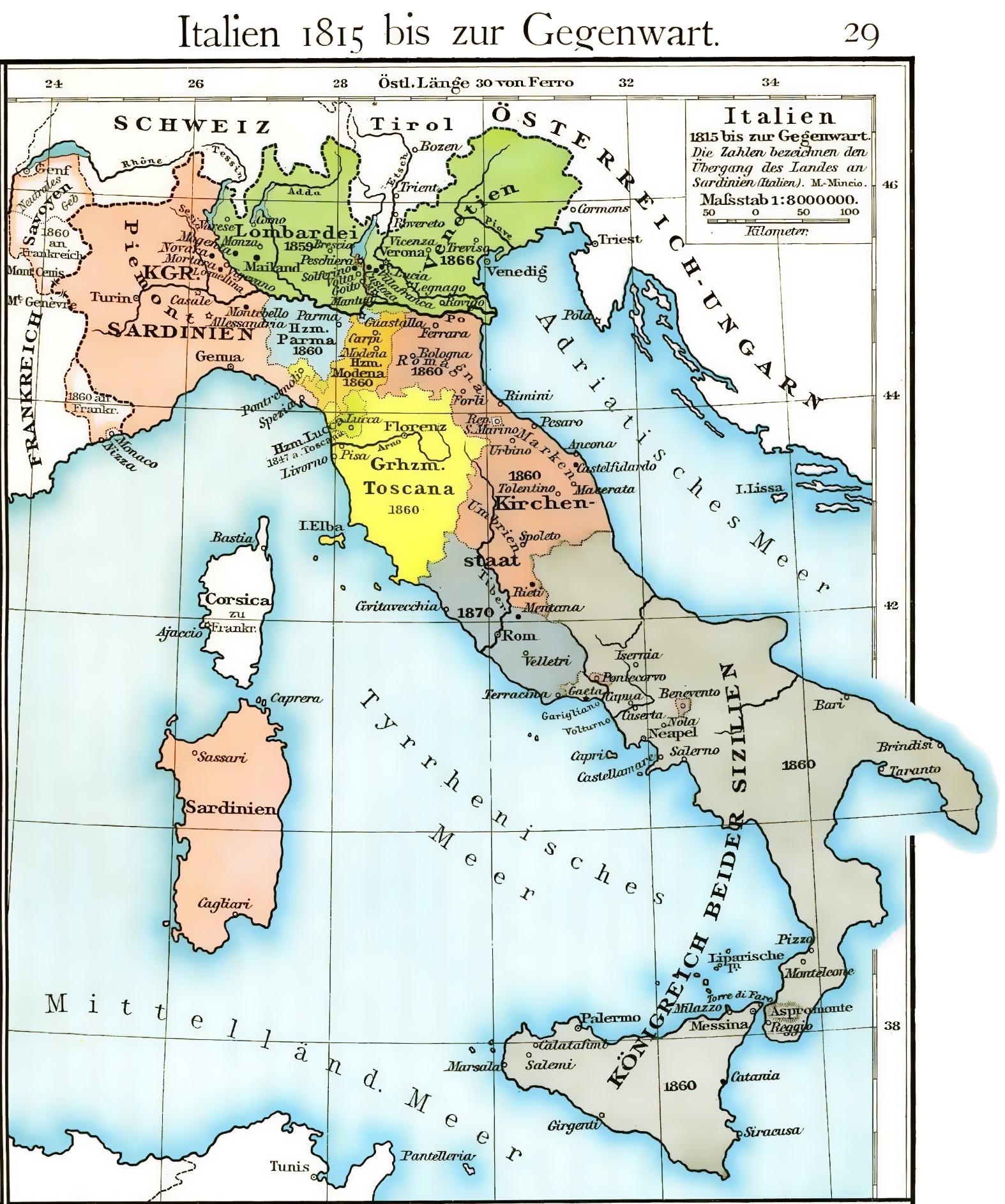 Cartina Dell Italia Nel 1815.File Volkerkarte Von Mittel Und Sudosteuropa Italien 1815