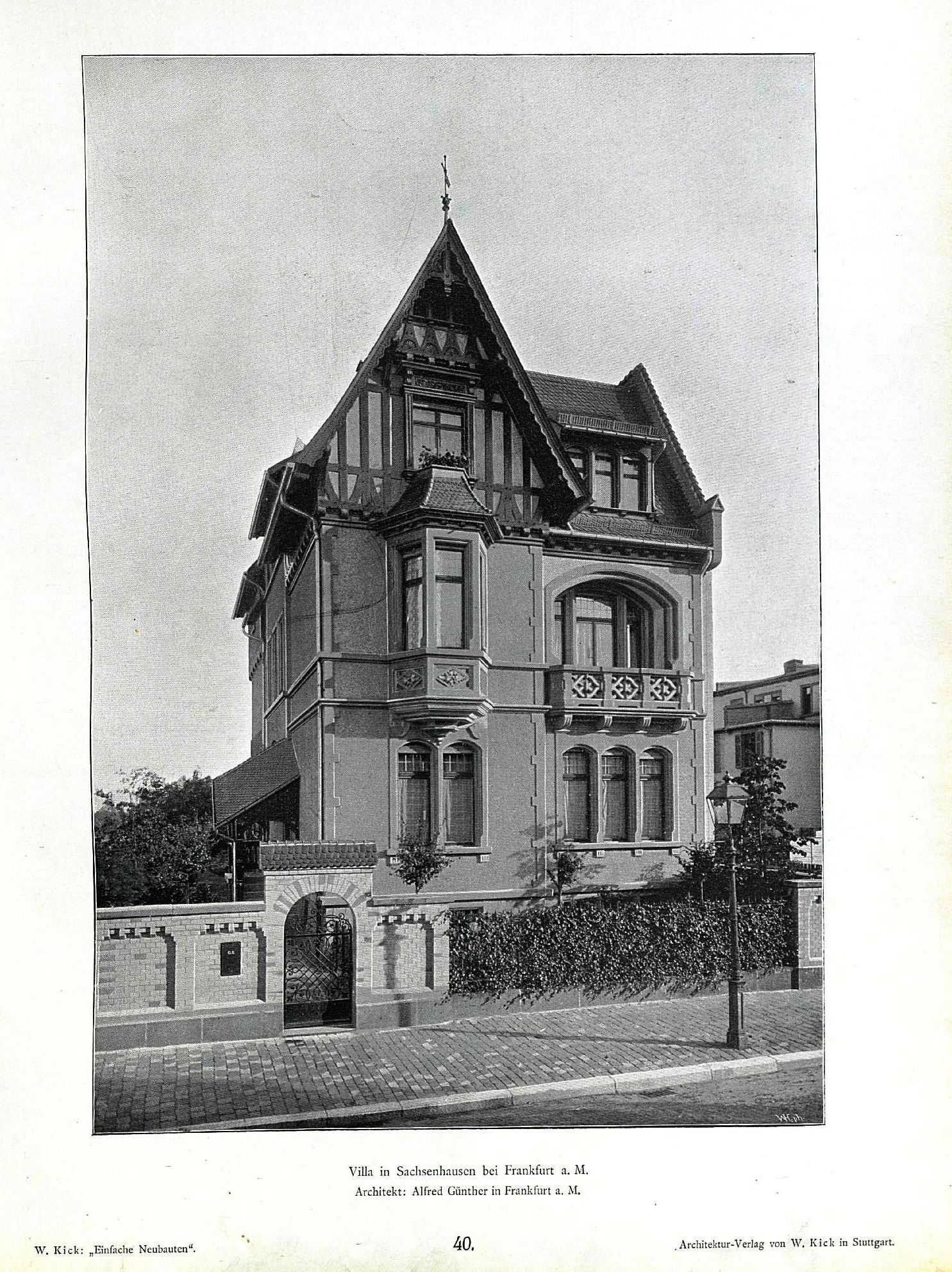 file wilhelm kick einfache neubauten stuttgart 1890 villa in sachsenhausen bei frankfurt am. Black Bedroom Furniture Sets. Home Design Ideas